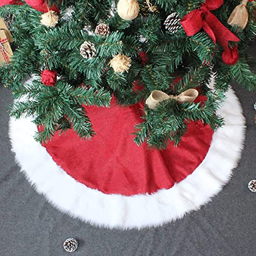PICTURESQUE Falda Árbol de Navidad Rojo Decoración para Fiesta de ...