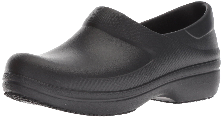 Crocs Women's Neria Pro II W Clog, Black, W6 M US
