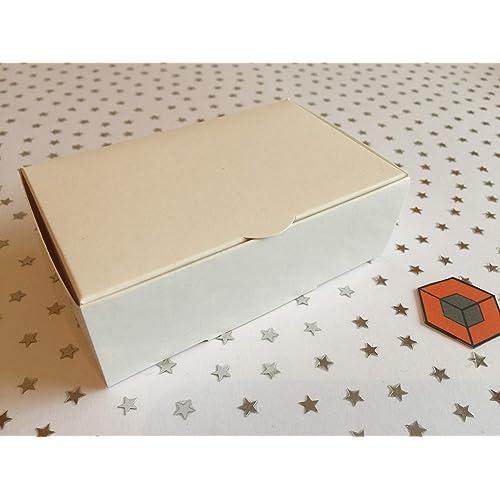 50 Budget White cake favour boxes 100x60x30mm