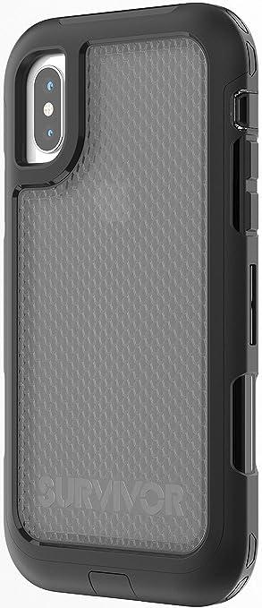 hot sale online f3e48 a07df GRIFFIN SURVIVOR EXTREME SLIM FIT CASE FOR iPHONE X - BLACK/TINT ...