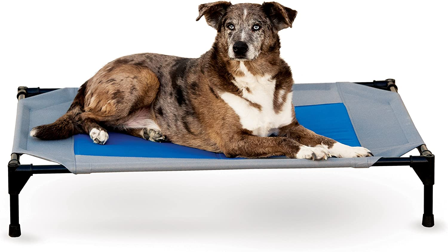 K H Pet Products KH Mfg Coolin Gray Blue Pet Cot