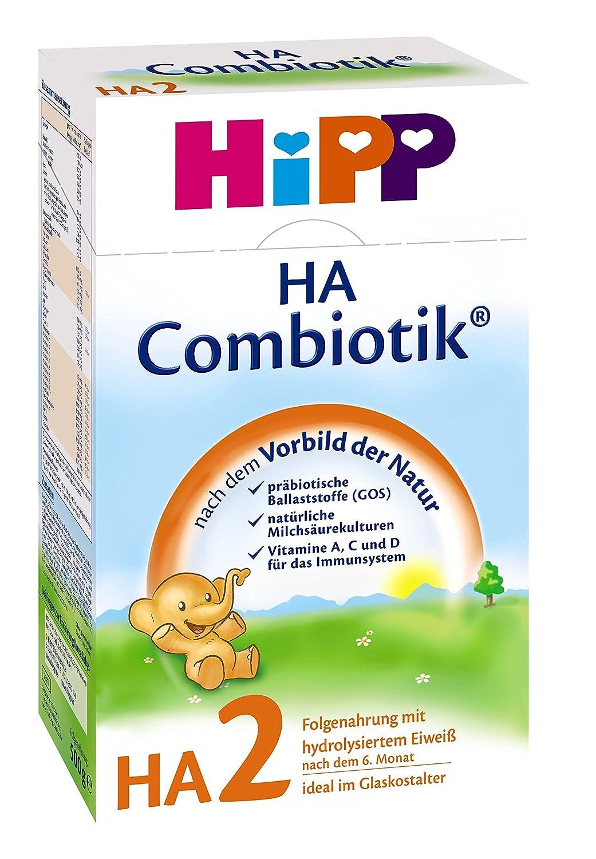 Hipp Milchnahrung  HA 2 Combiotik nach dem 6. Monat - 4er Pack (4 x 500 g Packung)