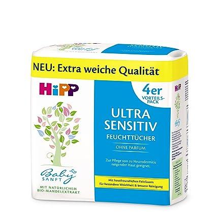 Hipp suave del bebé Toallitas ultrasensible, 4x52 hojas + box