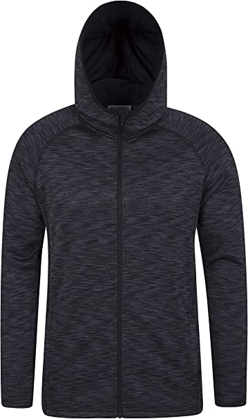 GRMO Women Zipper Hooded Warm Linen Fleece Outdoor Sweatshirt Jacket
