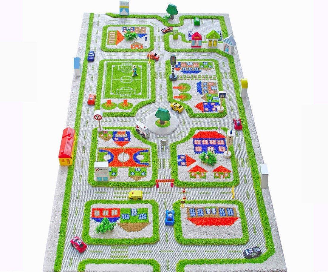 80 x 150 cm Little Helper 121MD033YE80153 IVI Hypoallergener Dicker 3D-Kinderspielteppich gr/ün
