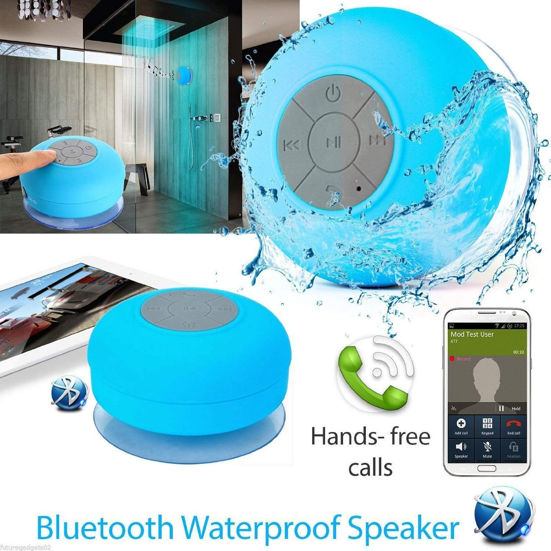 Pokanic Waterproof Bluetooth Shower Speakerwater Speaker Bts 06 Original Resistant Handsfree Portable Wireless Speakerbuild In Microphone Solid Suction Cup
