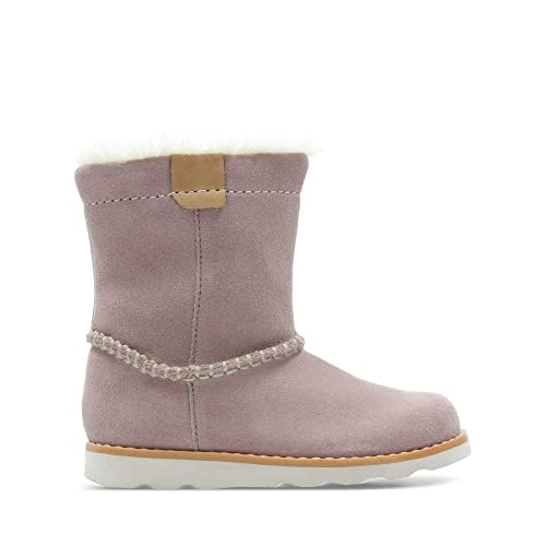 6bdb4ab4 Clarks Crown Piper Suede Boots in Pink: Amazon.co.uk: Shoes & Bags