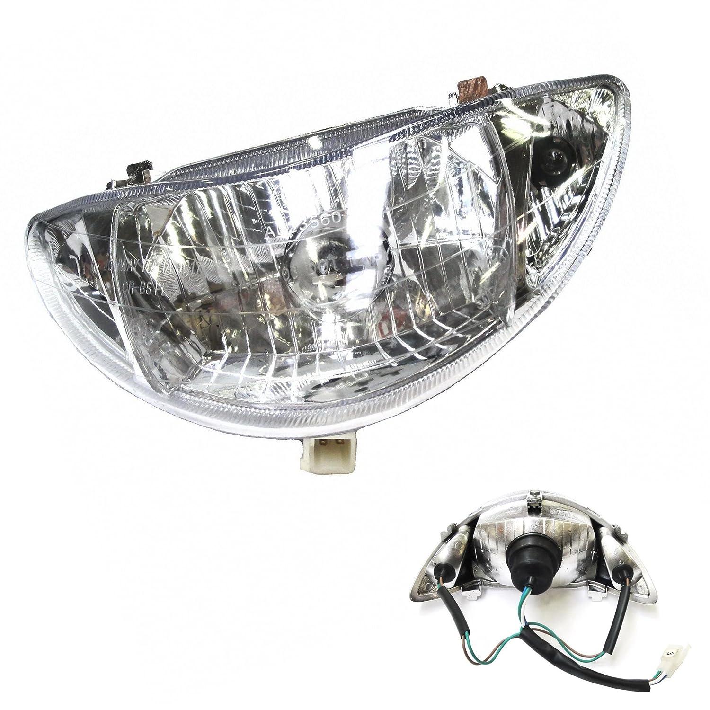 HAUPTSCHEINWERFER z.B AGM GMX RALLOX und baugleiche... BOSTON8 SCHEINWERFER LAMPE passend f/ür REX RS 400 SHENKE JONWAY JINAN QINGQI CHINA ROLLER RS 460