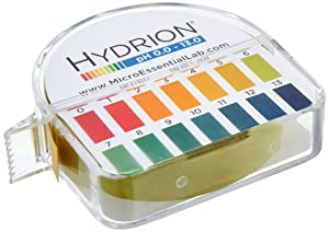 pHydrion 0 to 13 pH Jumbo pH Papers, Range 0 to 13, 50 Ft/Roll