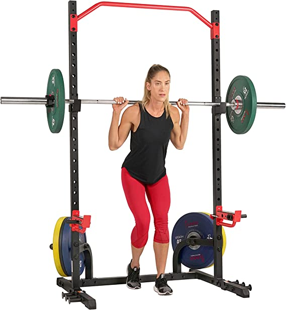 Sunny Health & Fitness Power Zone Squat Stand Rack Power Cage, Power Rack