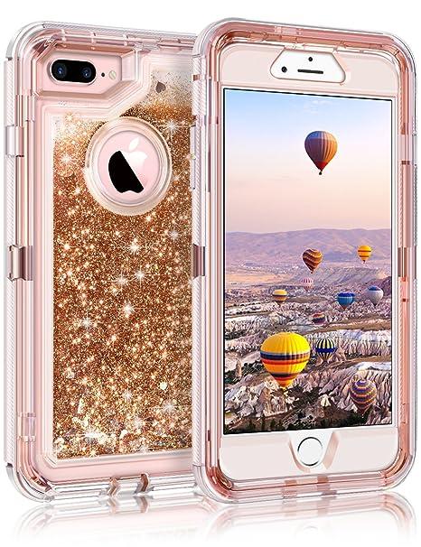coque iphone 8 plus glitter rose