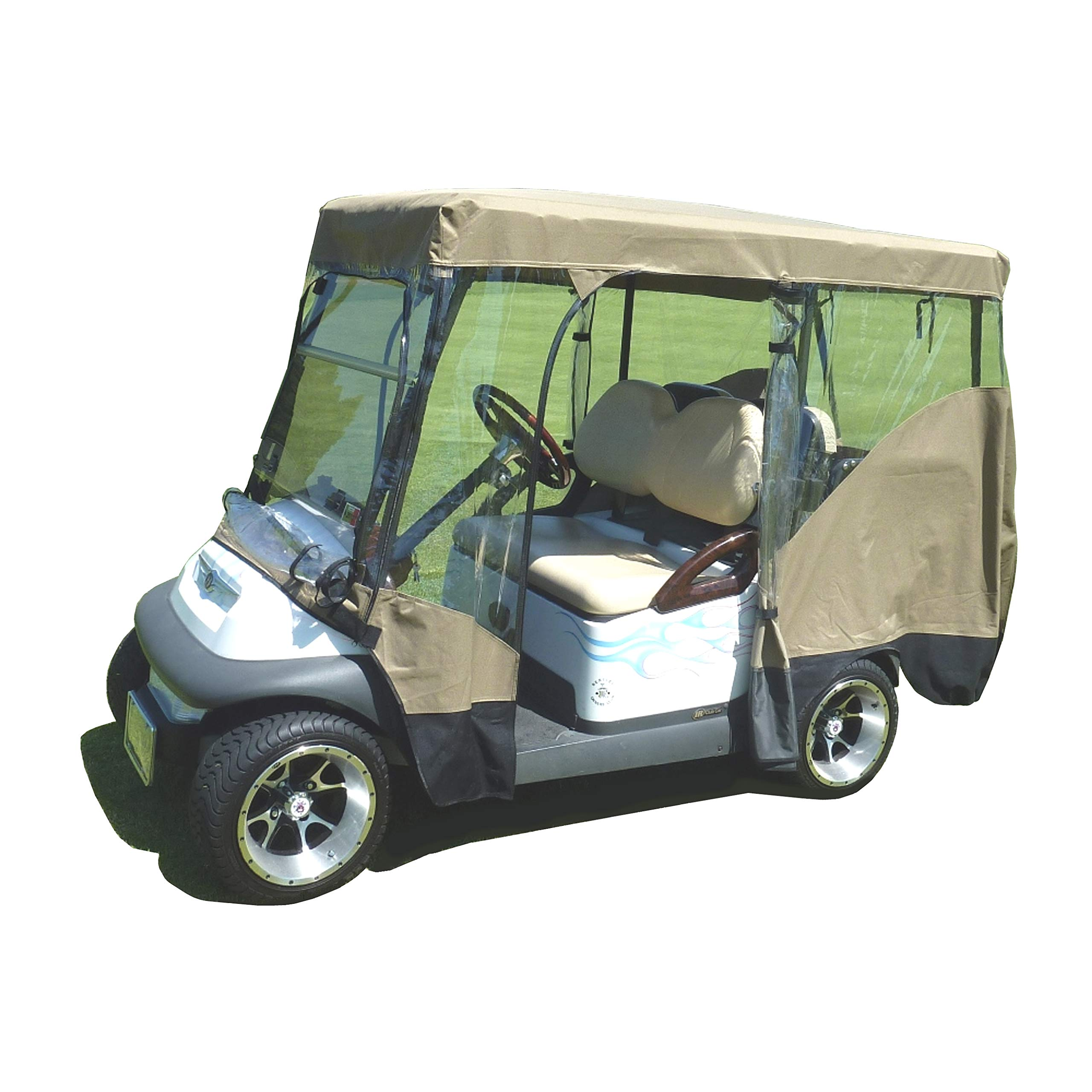 FC Formosa Covers Golf Cart Driving Enclosure for 4 Passengers roof up to 80'' L, fits Club car, EZGo and Yamaha G model - All Weather