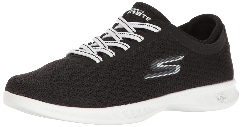 Skechers Damen Go Step Lite-Interstelllar Sneaker  40 1/2 C/D EU|Black/White Mesh