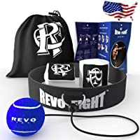 Revo Fight Upgraded Boxing Reflex Ball, Premium Headband with Training Ball on String...