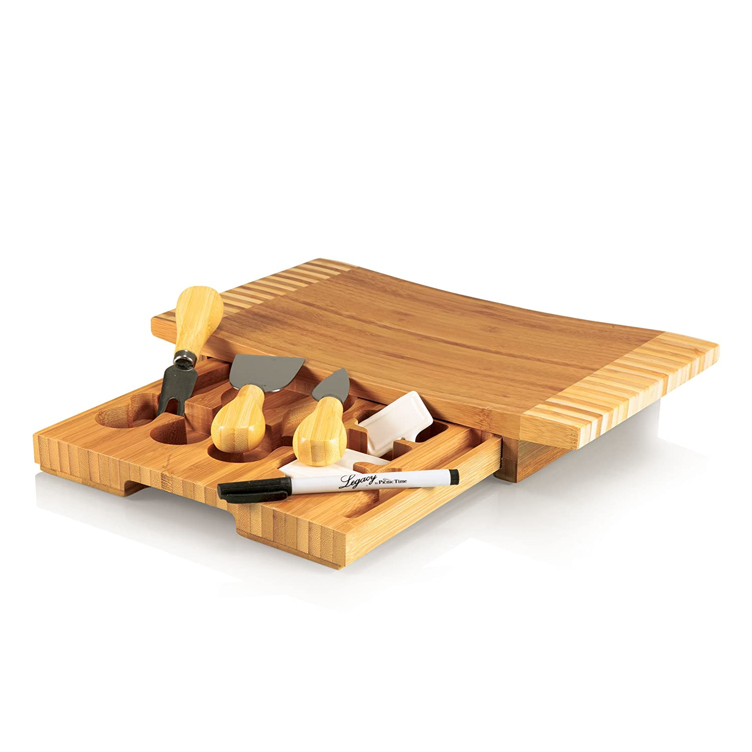Picnic Time Concavo Bamboo Board and Cheese Tool Set 823-00-505