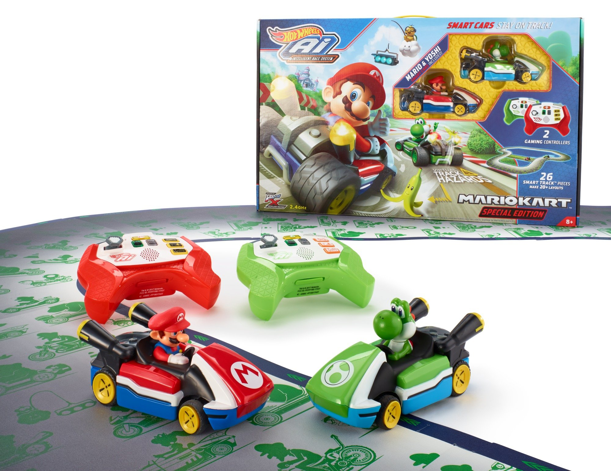 Hot Wheels Ai Starter Set Mario Kart Edition Track Set by Hot Wheels