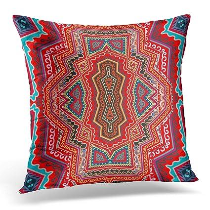 Amazon TOMKEYS Throw Pillow Cover Scarf Ethnic Pattern Russian Unique Peruvian Decorative Pillows