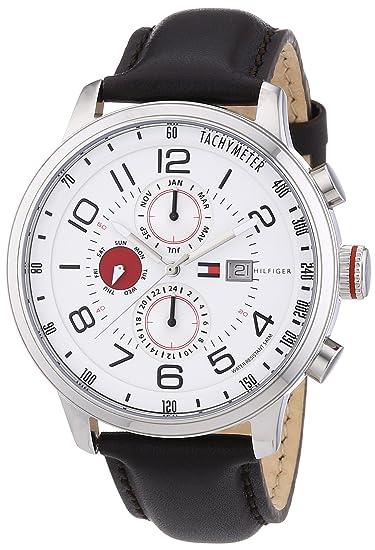 Tommy Hilfiger 1790858 - Reloj de cuarzo para hombre, correa de cuero color marrón