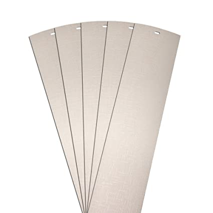 Amazon Dalix Lino Vertical Blinds Slats Replacement Parts Ivory