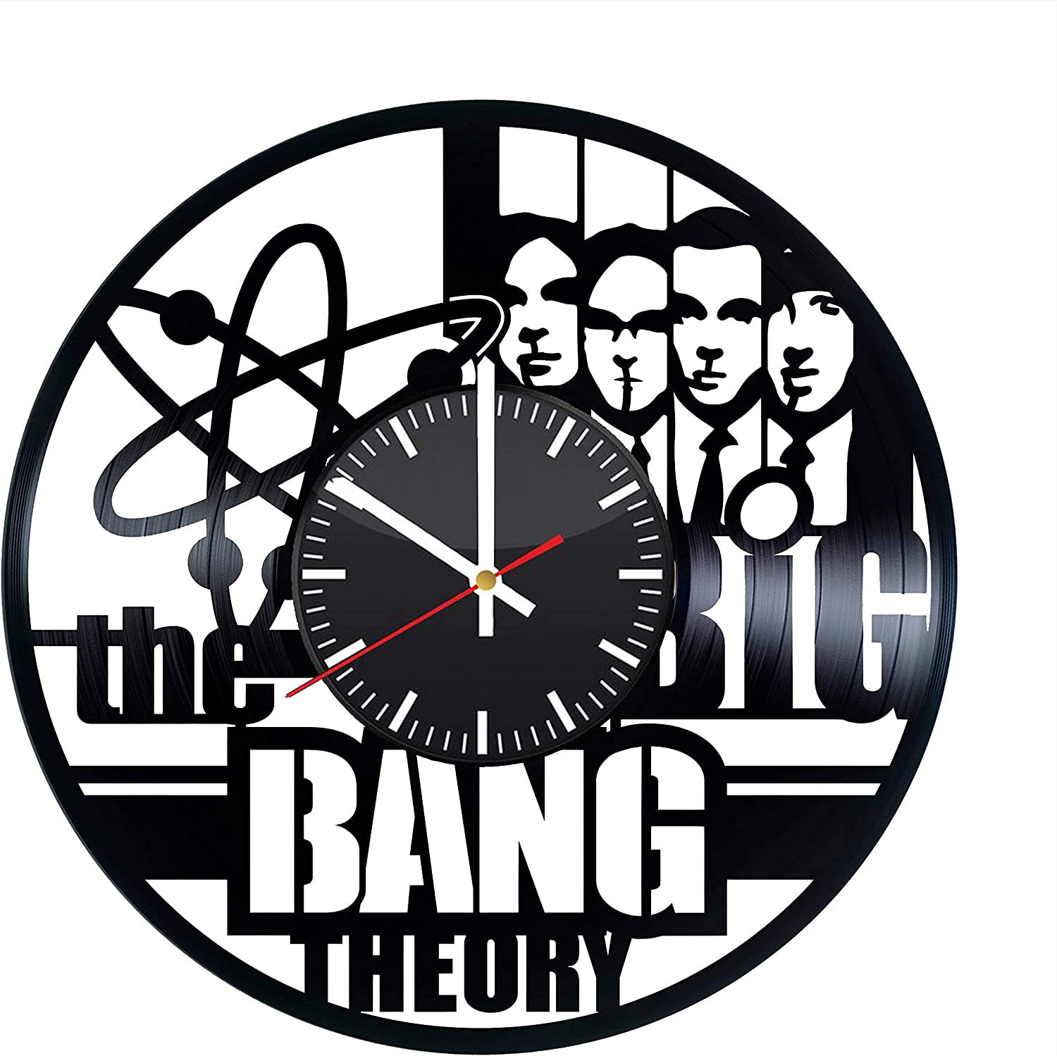 The Big Bang Theory Vinyl Record Wall Clock, Original Home Room Kitchen Vintage Modern Decor, Handmade Gift Idea for Any Occasion