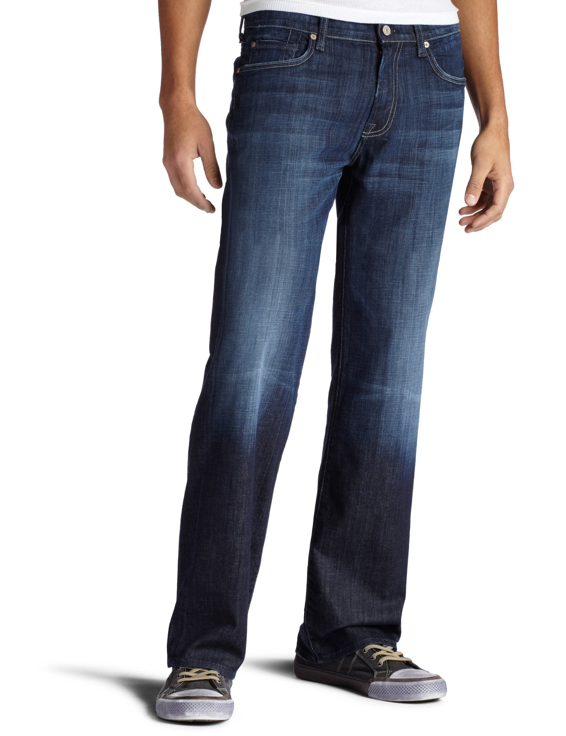 7 For All Mankind Men's Austyn Relaxed Straight-Leg Jean in Los Angeles Dark, Los Angeles Dark, 32x34