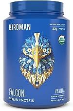 Birdman Falcon Premium Organic Plant Based Protein Powder, Vegan, Low Net