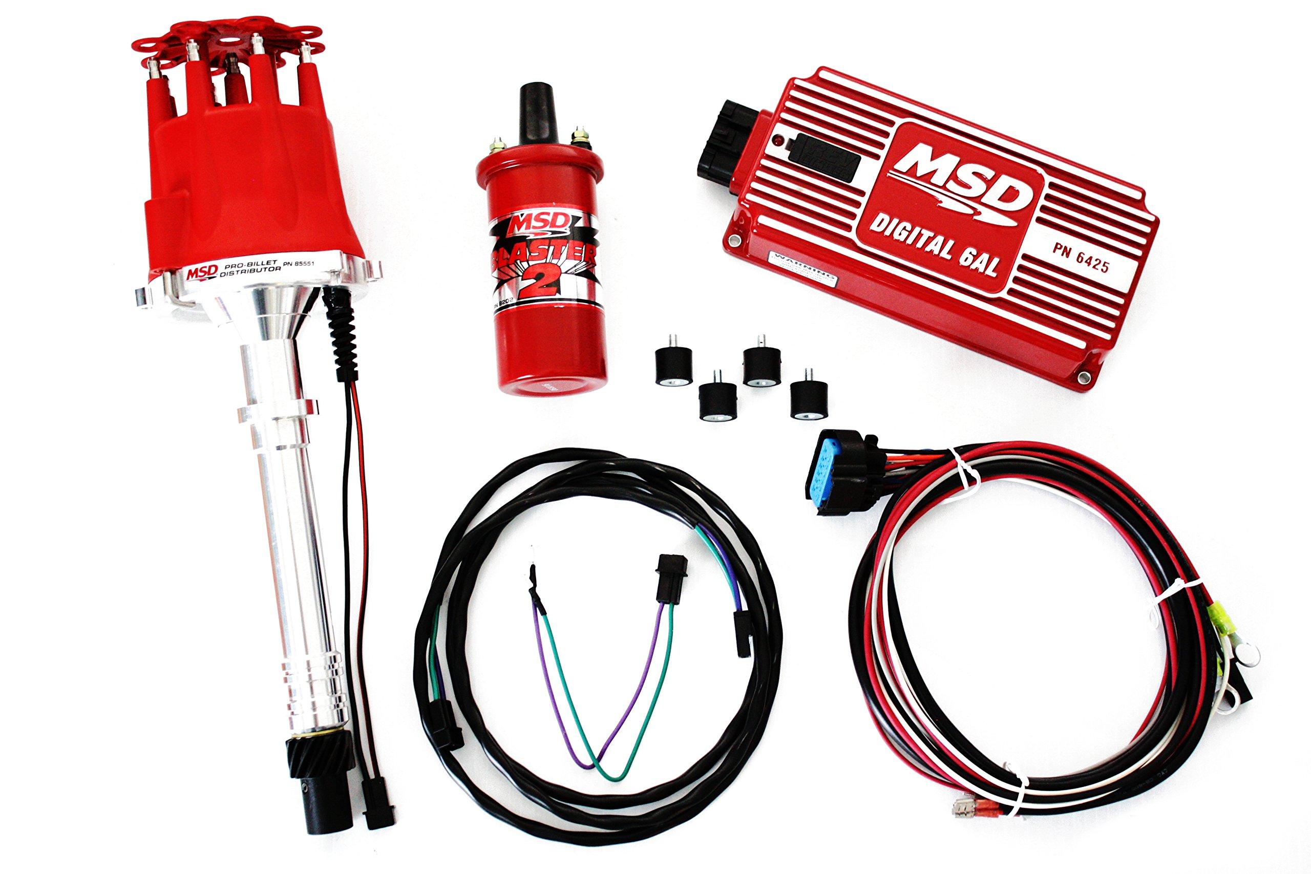 SBC/BBC MSD Ignition Digital 6AL Box w/Pro Billet Distributor & Blaster II Coil