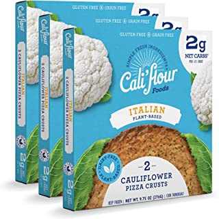 product image for Cali'flour Foods Plant-Based Pizza Crust (Italian, 3 Boxes, 6 Crusts) - Fresh Cauliflower Base   Vegan, Low Carb, High Protein, Gluten and Grain Free   Paleo Friendly