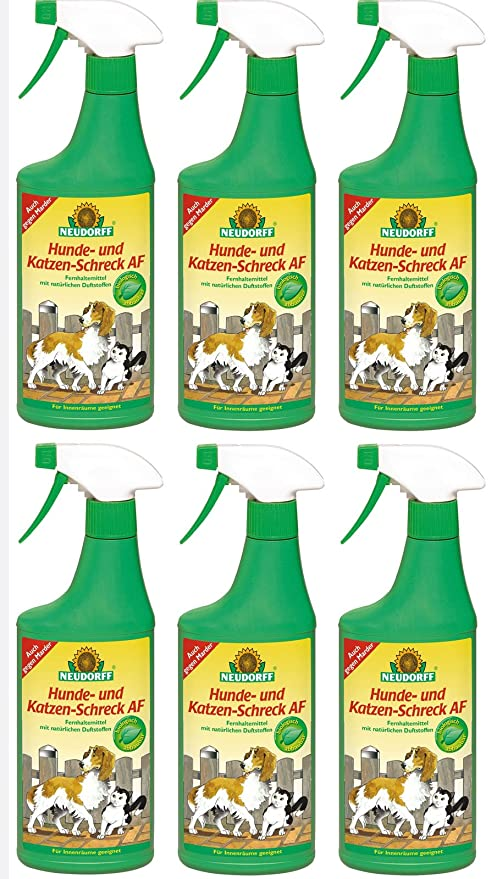 6 x 500 ml Neudorff para ahuyentar a perros y gatos AF, listas para usar: Amazon.es: Jardín