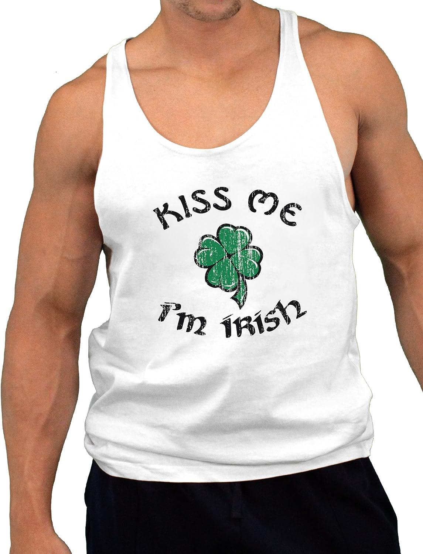 Kiss Me Im Irish or Drunk Mens A-Shirt Ribbed Tank Top