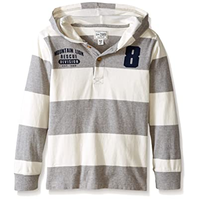 The Children's Place Big Boys' Long Sleeve Hooded Top