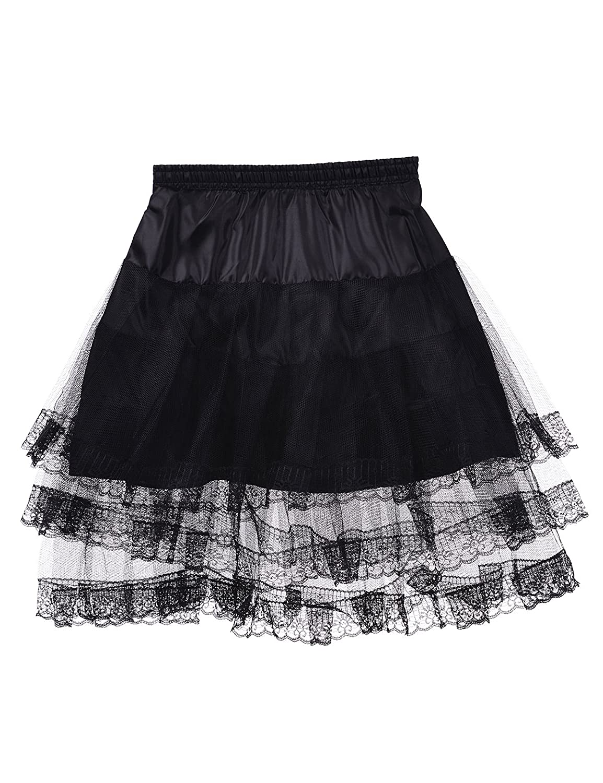 Remedios Kids Mini White Petticoat Flower Girl Wedding Underskirt Cocktail Dress Crinoline Slip Black LWUSQC130031L