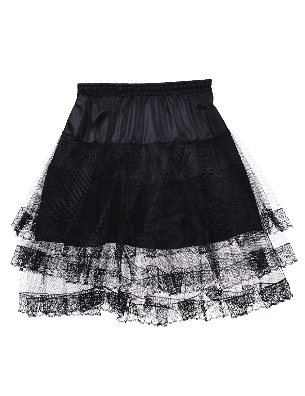Remedios Kids Mini White Petticoat Flower Girl Wedding Underskirt Cocktail Dress Crinoline Slip Black by Remedios