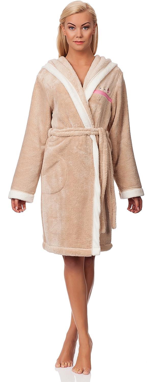 L&L Women's Short Hooded Bathrobe Melanie Short