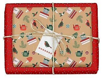 Geschenkpapier Weihnachten.4x Geschenkpapier Weihnachten Hochwertige Beidseitig Bedruckte