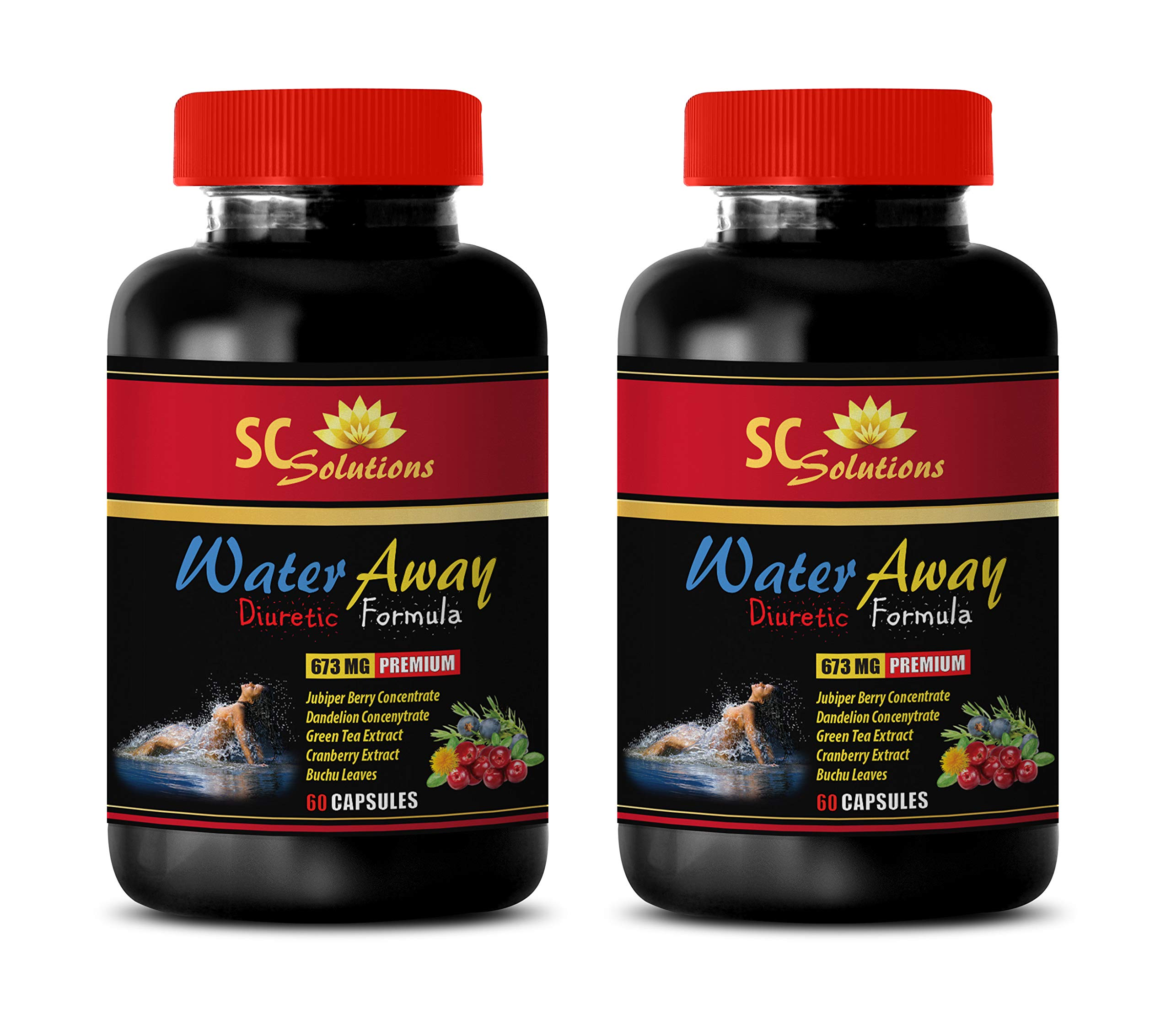 Fat Loss - Water Away Pills Natural Formula 700MG - Potassium Chloride - 2 Bottle (120 Capsules) by Skin Care Solution (Image #1)