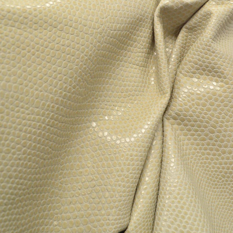 オフホワイトリネンReptile Embossed 1 1 /2 – 2ozレザーファッションCow Hide 8.3 sqft-17 B07CZ3MP8P