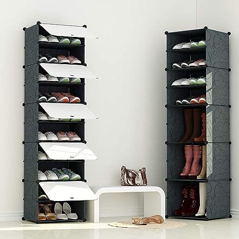 MIXED 組み立て式 シューズボックス 1列5扉10マス DIYブーツラック 靴箱 靴収納ボックス 防塵・防汚・防水 かび対策 大容量 おしゃれ