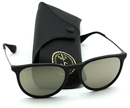 1548bc2c18 Image Unavailable. Image not available for. Color  Ray-Ban RB4171 601 5A  Erica Black Frame   Brown Mirror Gold Lens