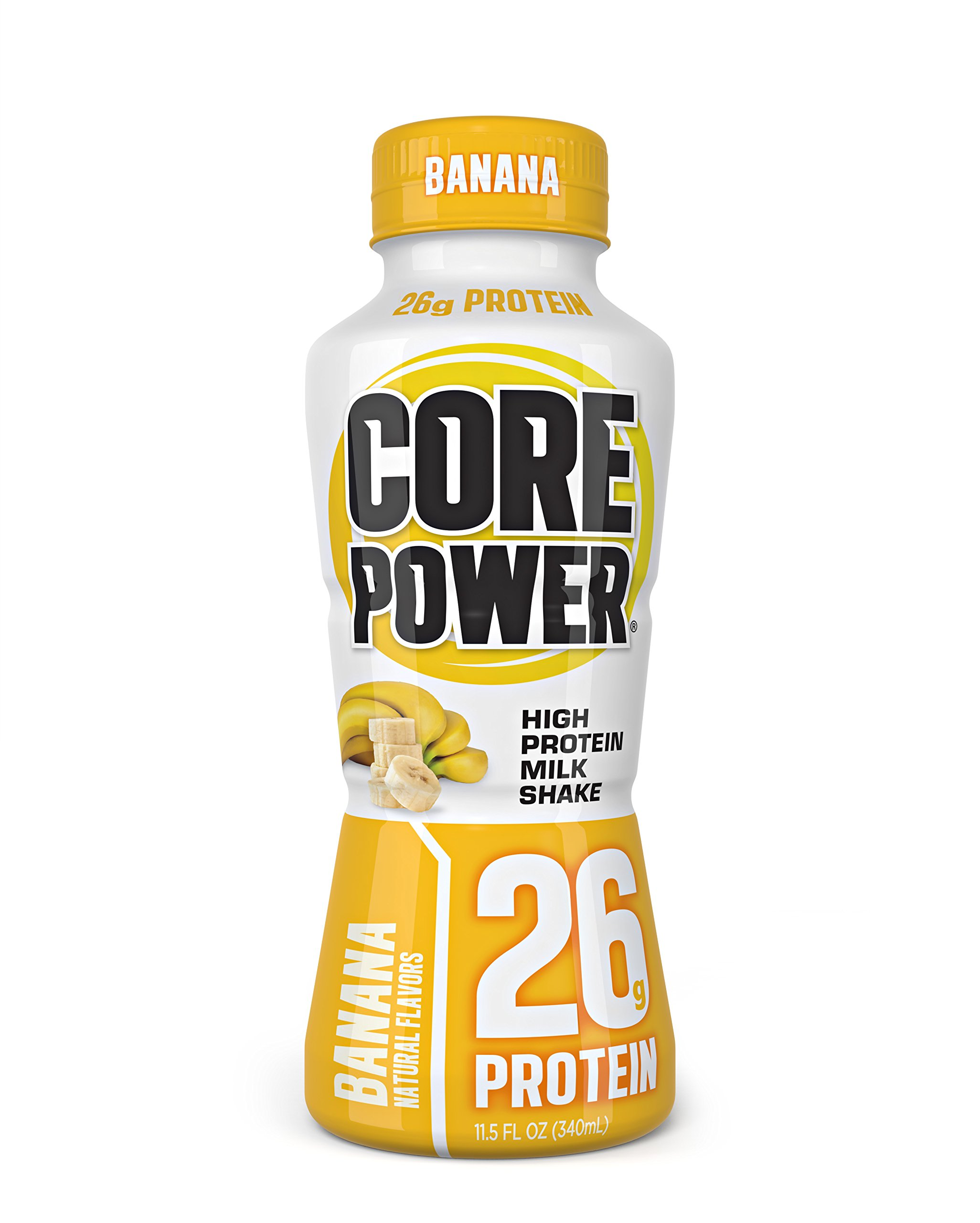 Core Power by fairlife High Protein (26g) Milk Shake, Banana, 11.5 Fluid Ounce, 12 Count