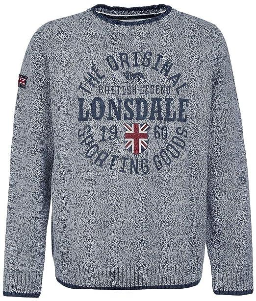 Lonsdale London Borden Felpa Girocollo da Uomo: Amazon.it