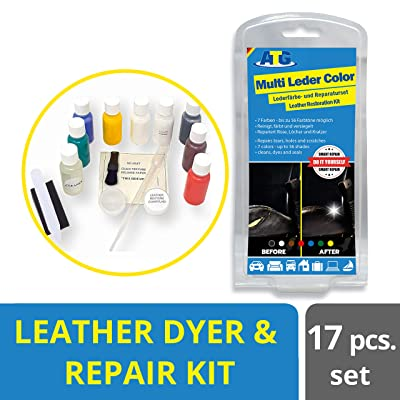 ATG Leather Multicolor Restorer & Repair Set | Fixes Scratches, Fading & Abrasions | Leather, Synthetic Leather, Vinyl Carseats | Furniture | Car Leather Repair Kit | Leather Jacket: Automotive [5Bkhe2008687]