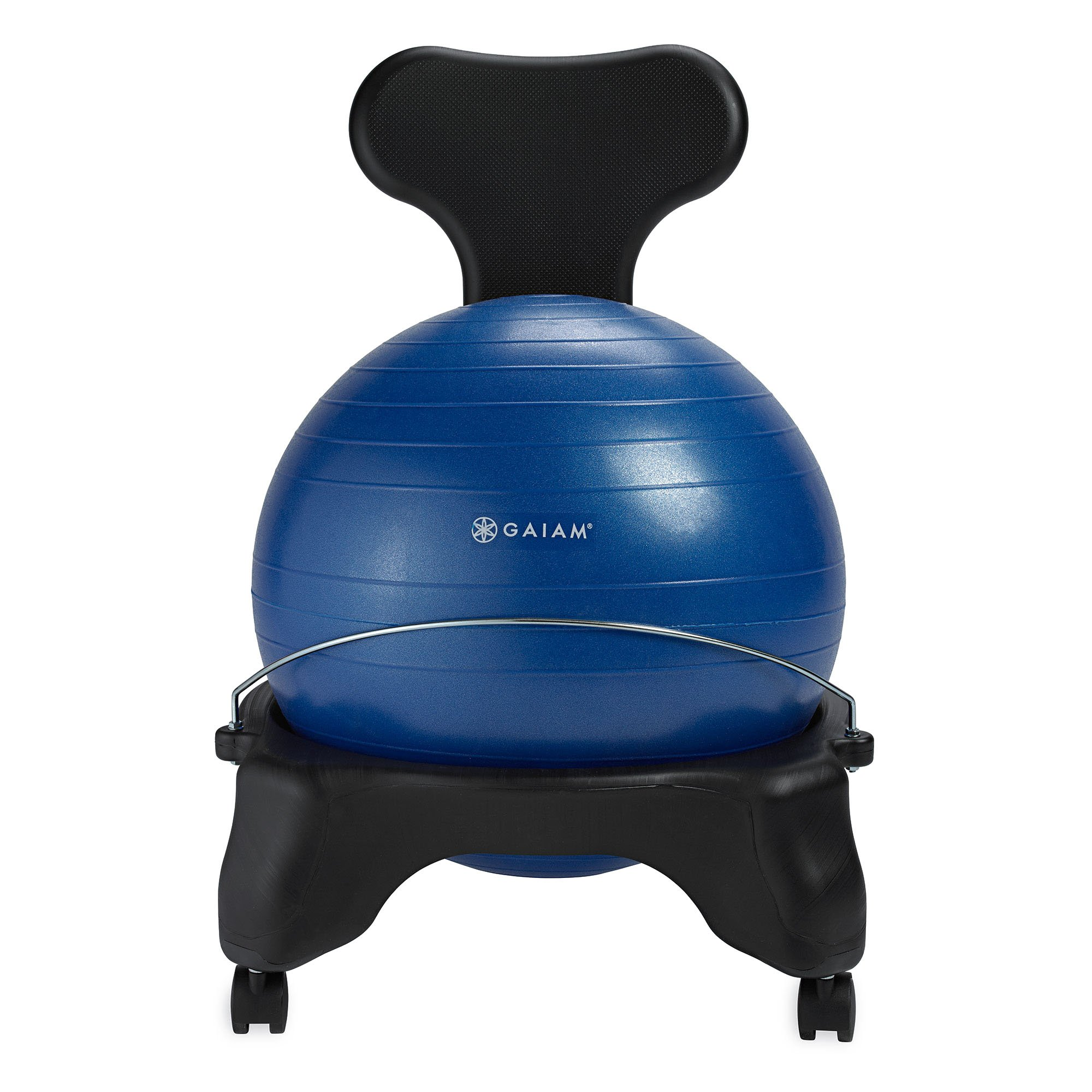 Gaiam Classic Balance Ball Chair – Exercise Stability Yoga Ball Premium Ergonomic Chair for Home and Office Desk with Air Pump, Exercise Guide and Satisfaction Guarantee, Blue by Gaiam (Image #8)