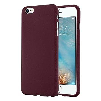 Cadorabo Funda para Apple iPhone 6 / iPhone 6S en Frost Lila Burdeos - Cubierta Proteccíon de Silicona TPU Delgada e Flexible con Antichoque - Gel ...