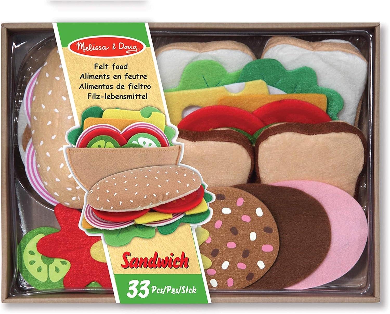 Melissa & Doug Felt Food Sandwich Set, 1 EA