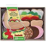 Melissa & Doug 13954 sandwich-spel filt, flera färger