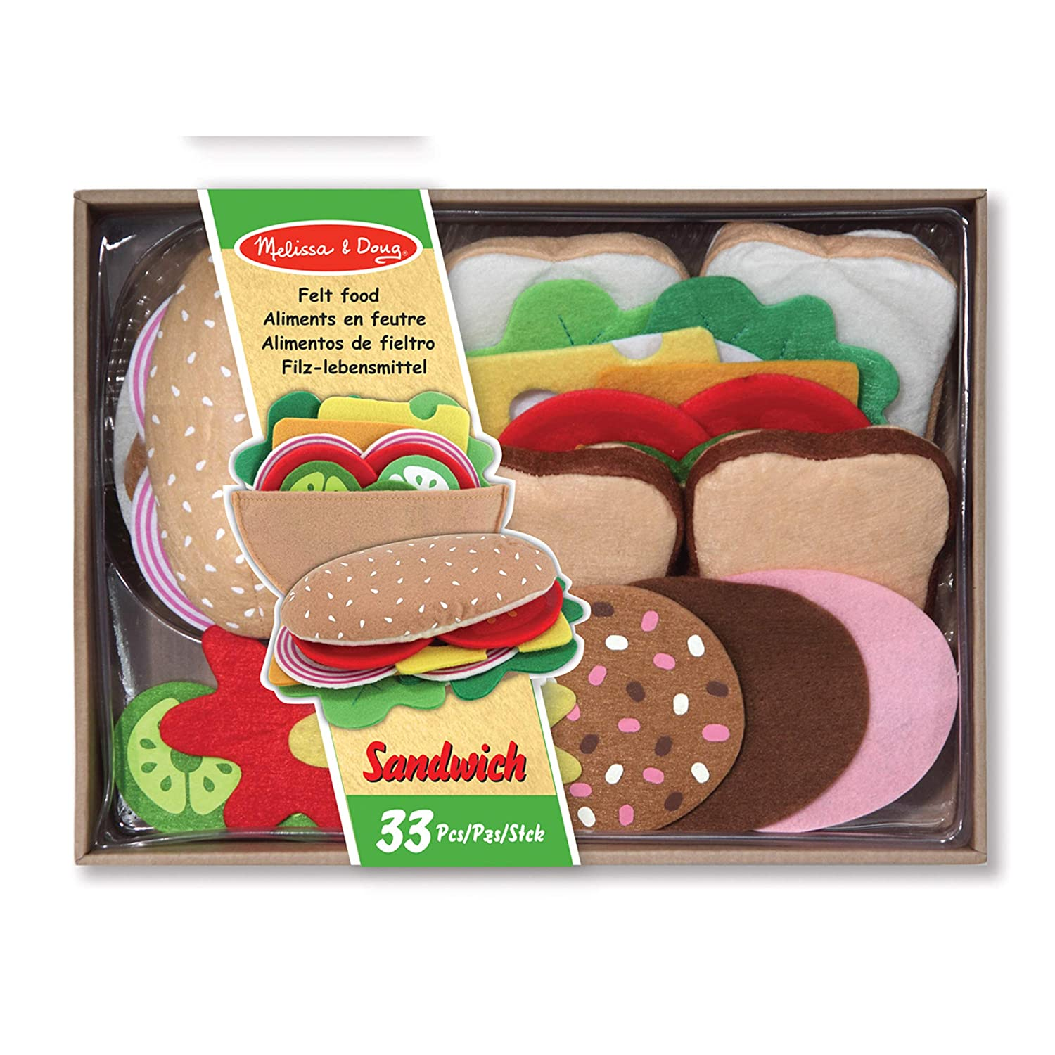 Melissa & Doug Felt Sandwich Set