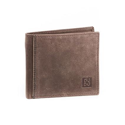 Portefeuille pour Homme Vintage en Cuir véritable à l aspect Vieilli avec  Porte-Monnaie 9a1f6af4b12