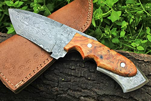 DKC Knives 17 5 18 Sale DKC-85 Tomcat Damascus Skinner Hunting Knife 9 Long 4.5 Blade 11.2oz High Class Looks Incredible Feels Great in Your Hand and Pocket Hand Made