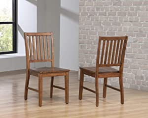 Sunset Trading DLU-BR-C60-AM-2 Simply Brook Dining Chair, Amish Brown